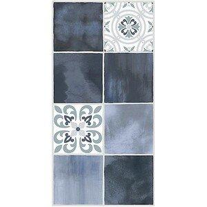настенная плитка Азори Glam Indigo Ornament 1